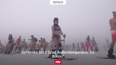Eiskaltes Festival: Ski-Action im Bikini