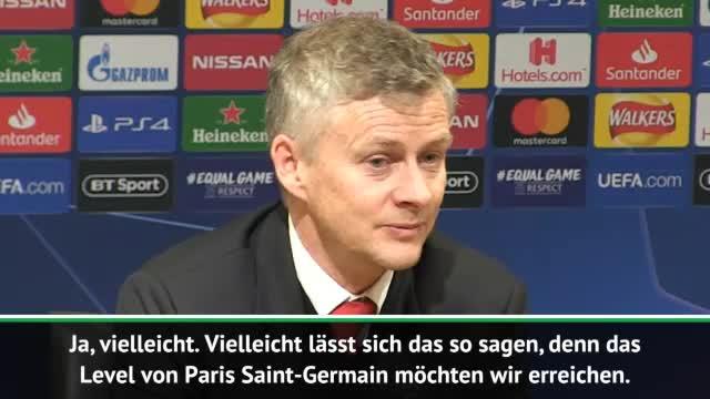 """Solskjaer: """"Wollen auf das Level von PSG"""""""