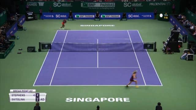 WTA-Finals: Svitolina triumphiert in Singapur