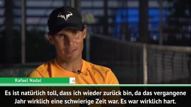 """Nadal: """"Vergangenes Jahr eine schwierige Zeit"""""""