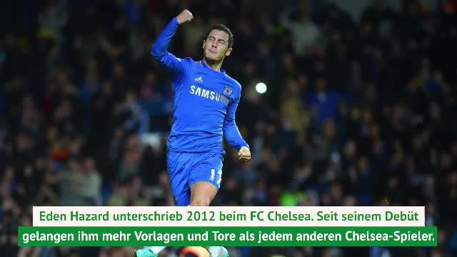 Bye Hazard: Seine Chelsea-Karriere in Zahlen