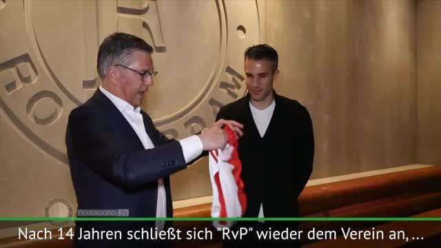 Nach 14 Jahren: Van Persie zurück bei Feyenoord