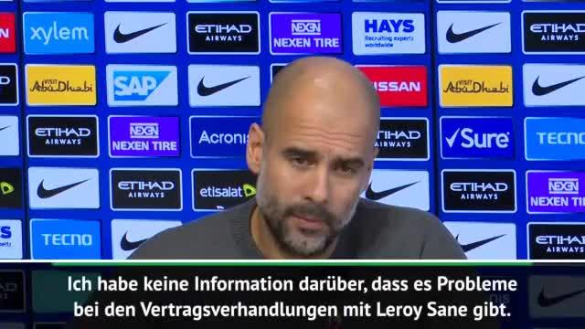Guardiola: Sané? Hoffe, er bleibt noch lange