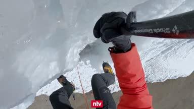 Eisklettern: Irre Bilder vor toller Kulisse