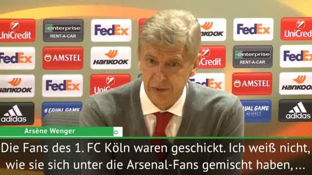 Wenger: Köln-Fans haben den Abend vermiest