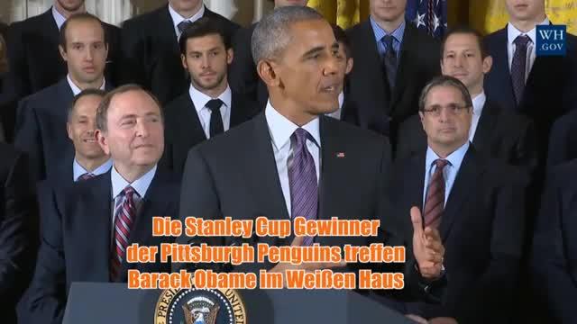 Penguins im Weißen Haus: Obama ehrt NHL-Champs
