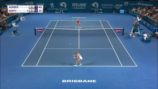 Brisbane: Kerber kämpft sich ins Viertelfinale