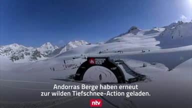 Wilde Tiefschnee-Action in Andorras Bergen