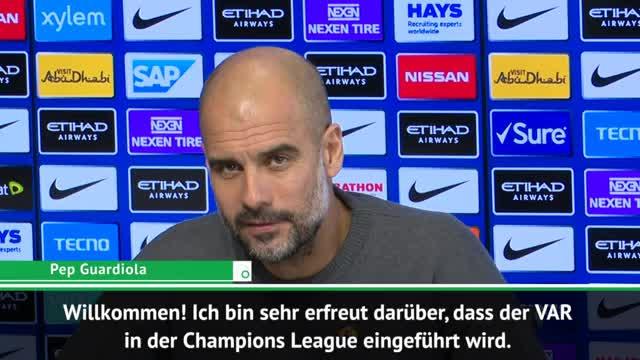 "VAR goes CL! Guardiola: ""Willkommen!"""