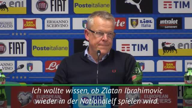 WM-Quali: Ibrahimovic-Gerüchte nerven Andersson