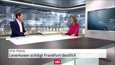 DFB-Pokal: Leverkusen schlägt Frankfurt deutlich