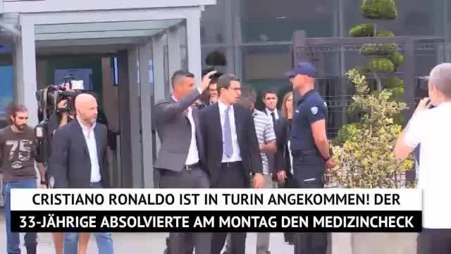CR7-Ankunft in Turin! Ronaldo beim Medizincheck