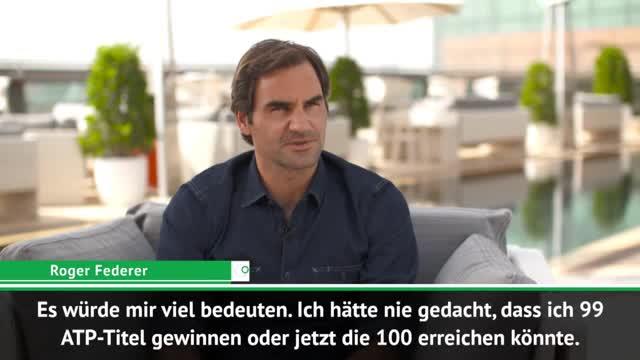 """Federer vor 100. Titel: """"Würde viel bedeuten"""""""