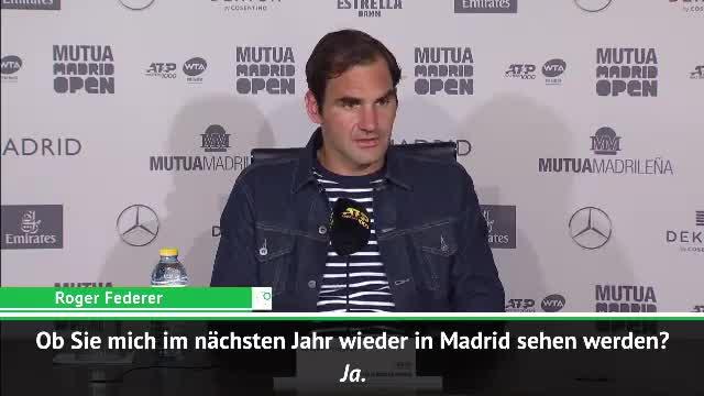"""Madrid: Federer nach Aus: """"Vielleicht Tourist"""""""