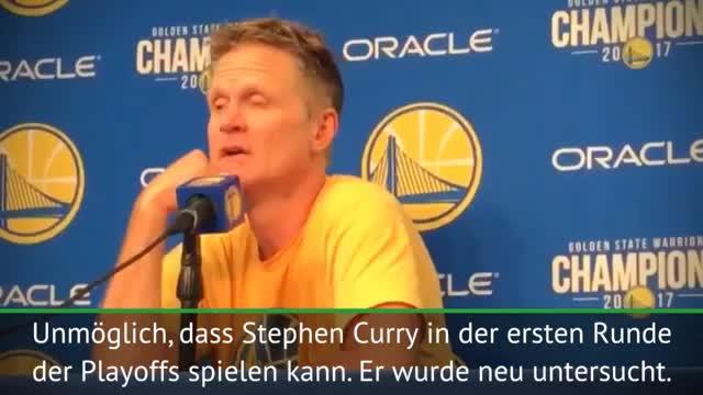 Kerr: Keine Chance, dass Curry spielt