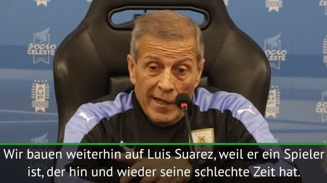 Trotz Formtief: Tabárez lobt Suárez