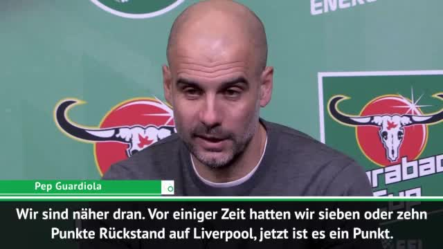 Guardiola: Liverpool ist immer noch Favorit