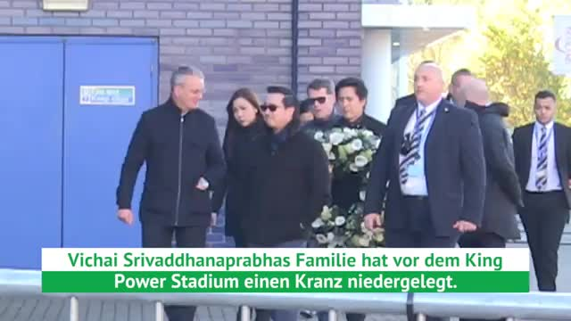Leicester-Unglück: Familie legt Kranz nieder