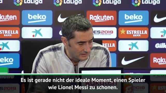"""Valverde: Messi schonen? """"Schwieriger Zeitpunkt"""""""