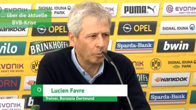 Favre und Zorc über Krise, Friseure und den VfB