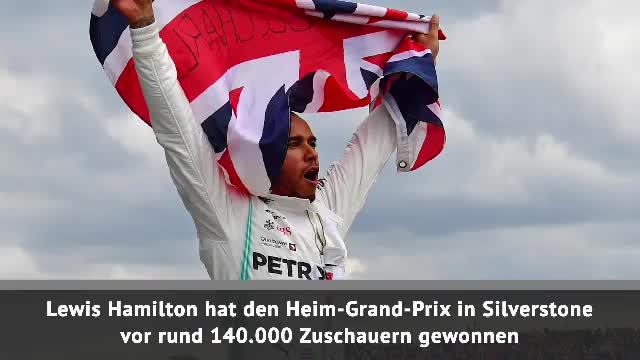F1: Hamilton siegt, Vettel crasht bei England-GP