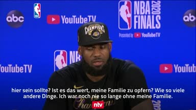 Das sagt LeBron James zum NBA-Titel mit den Lakers