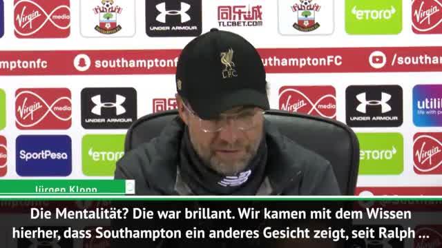 Klopp nach Southampton: Ein brillanter Sieg