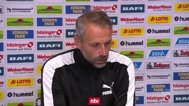 """Gladbach-Coach Rose bezeichnet Rote Karte als """"Witz"""""""