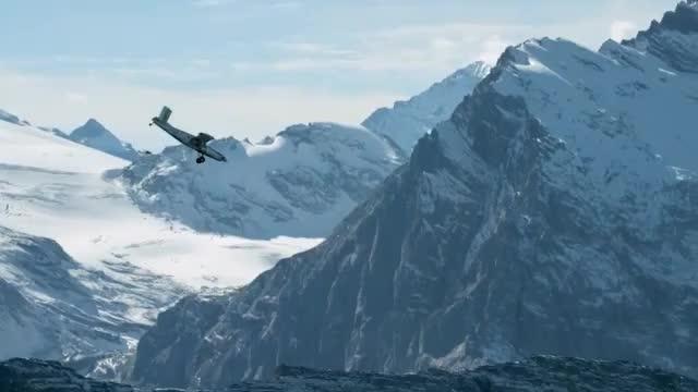 Extremsport: Sprung vom Berg ins Flugzeug-Taxi
