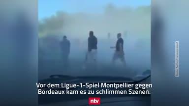 Gewaltattacke unter Ligue-1-Fans: Die Eskalation im Video