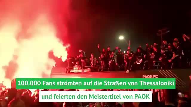 Ekstase! PAOK nach 34 Jahren wieder Meister