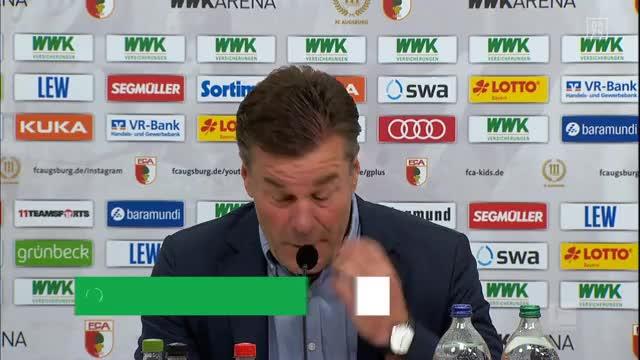 """Hecking nach Remis: """"Augsburg hat uns gejagt"""""""