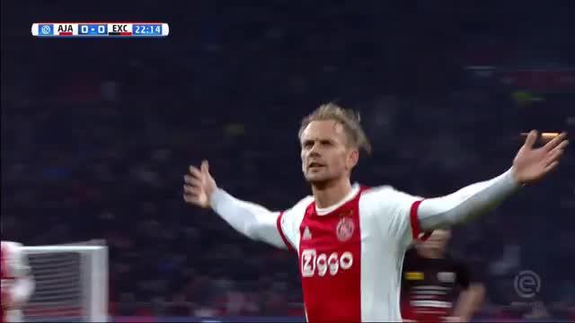 Freistoßspektakel bei Ajax-Sieg gegen Excelsior