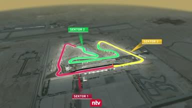 Der Bahrain Grand Prix Circuit aus der Vogelperspektive