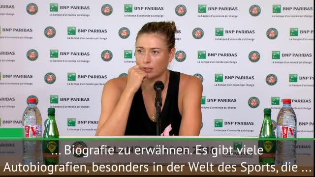 French Open: Sharapova über Williams-Vorwürfe