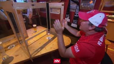 Bierlaune in München: Bayern-Fans feiern mit Abstand