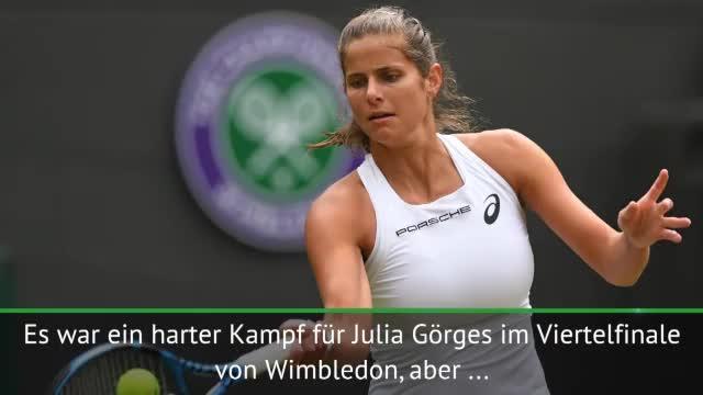 Wimbledon: Görges kämpft sich ins Halbfinale