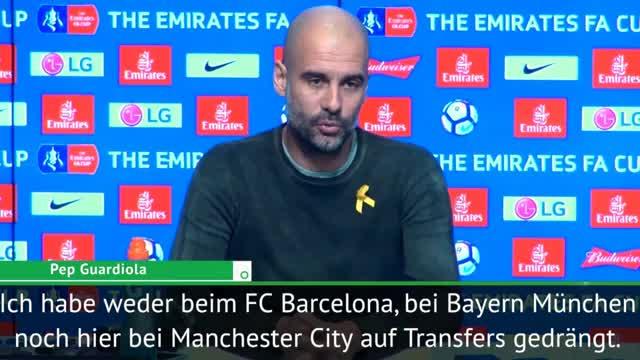 "Guardiola: ""Habe nie auf Transfers gedrängt"""