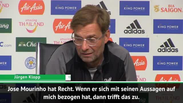 So reagiert Klopp auf Mourinhos Protz-Aussagen
