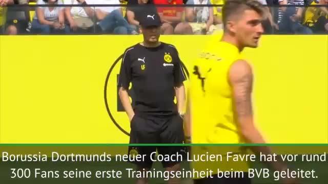 So lief der BVB-Trainingsauftakt mit Favre
