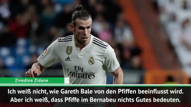 """Zidane: Pfiffe gegen Bale """"muss man akzeptieren"""""""