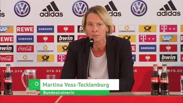 Voss-Tecklenburg: Viertelfinale das WM-Ziel