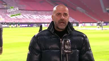 Peter Bosz im Interview vor Bayers  EL-Spiel gegen Be'er Sheva