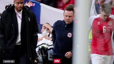 Arzt: Schnelle Reaktion rettete Eriksen das Leben
