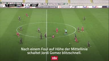 Gegen Götzes PSV: Wahnsinns-Tor in der Europa League