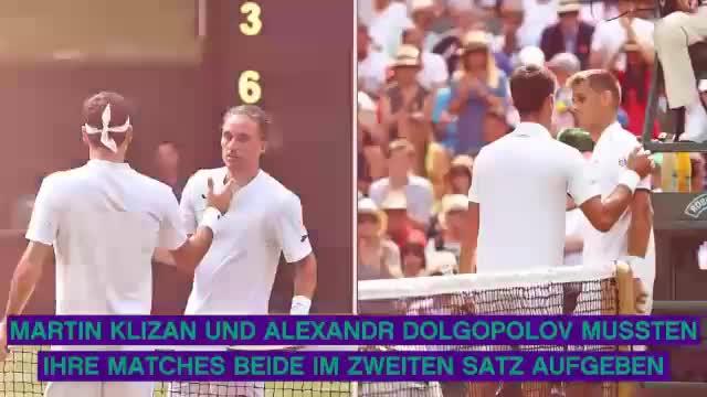 Wimbledon: Federer-Jubiläum und Favoritensterben