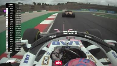Der Crash von Norris und Stroll im Video