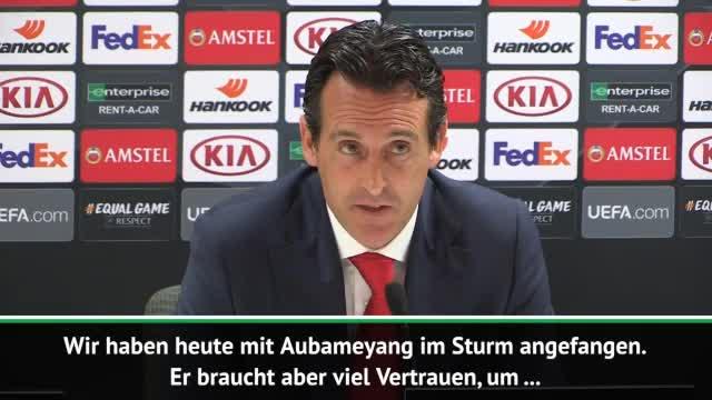 "Emery zu Stürmer-Quartett: ""Vertraue Aubameyang"""