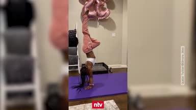 Simone Biles mit irrer Handstand-Challenge