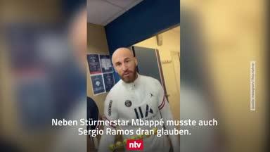 Spaß bei PSG: Sergio Ramos und Co. mit Glatze